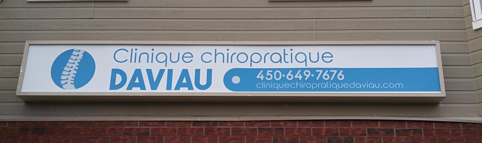Enseigne Clinique Chiropratique Daviau - St-Amable